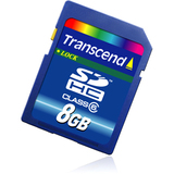 Transcend 8GB Secure Digital High Capacity (SDHC) Card - Class 6 - TS8GSDHC6
