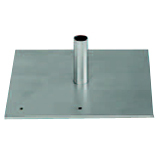 Da-Lite Flat Steel Base with Mounting Stud