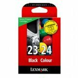 Lexmark Twin-Pack #23, #24 Black and Colour Return Program Ink Cartridges 53A3806