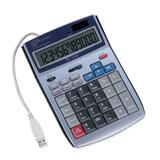 "Compucessory 12-Digit LCD Calculator - 12 Character(s) - LCD - Solar, Power Adapter Powered - 5.5"" x 7.5"" x 1.5"" - White"