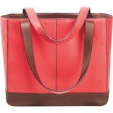 Day-Timer Leather Tote - Top-loading - 10' x 11.5' x 4' - Pink