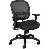 Basyx Mid-back Chair w/Black Mesh Seat and Back