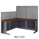 Bush Office in an Hour L-Workstation - Hansen Cherry