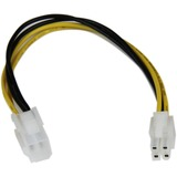 StarTech.com 8in ATX12V 4 Pin P4 CPU Power Extension Cable - ATXP4EXT