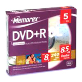 Memorex 8x DVD+R Double Layer Media - 32025835