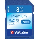 Verbatim 8GB Premium Secure Digital High Capacity (SDHC) Card - Class 6