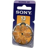 Sony PR13 Zinc Air Hearing Aid Battery