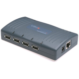 Lantronix UBox 4100 4-Port USB 115 VAC Device Server