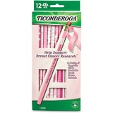 Dixon Breast Cancer Awareness Pencil - #2 Pencil Grade - 1  Dozen