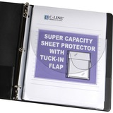 C-Line Super Cap. Sheet Protector w/ Tuck-in Flap