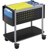 Safco Scoot Open Top Mobile File - 1 Shelf - 200 lb Capacity - 4 - Steel - 14.75' x 28' x 26' - Black