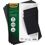 Fellowes Linen Presentation Covers - Oversize, Black, 200 Pack
