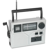 Acme Crank Radio/Flashlight - Emergency Light - LED - AA - Silver