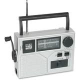 Acme Crank Radio/Flashlight - Emergency Light - LED - AA - Silver
