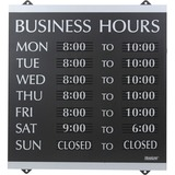 U.S. Stamp & Sign Century Business Hours Sign - 4247