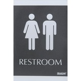 U.S. Stamp & Sign Century Series Restrooms ADA Sign - 4249