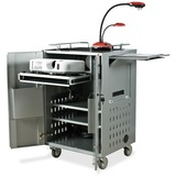 Balt Locking AV Folding Cart - Steel - Silver