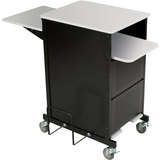 Balt Extra Wide Presentation Cart - Gray, Black