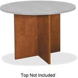 Basyx Veneer Round Conference Table Top with X-Base - BWX01HH