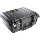Pelican PELICAN 1400 COPOLYMR RUGGD CASE w/ PICK N' PLUCK FOAM BLACK