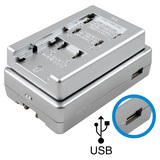 Lenmar SOLOXP-X3 Universal Li-Ion Travel Charger with USB Power Port