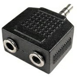 Cables Unlimited 6in 3.5mm Stereo Y Splitter 3.5mm 1M to 2F