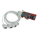 Comtrol RocketPort EXPRESS Quadcable DB9 Multiport Serial Adapter