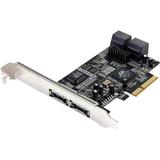 StarTech.com 2 Port eSATA + 4 Port SATA II PCI Express x4 SATA Controller Adapter Card PEXSATA24E