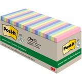 Post-it Greener Notes Cabinet Pack, 3 in x 3 in, Helsinki Color Collection