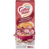 Coffee-mate® Liquid Coffee Creamer, Cinnamon Vanilla, 0.375 oz Mini Cups,50/Bx, 4 Box/Carton NES42498