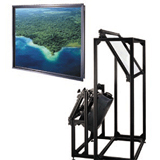 Da-Lite Thru-the-Wall Rear Projection Screen and Mirror System