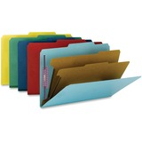 Smead 19025 Assortment Colored Pressboard Classification Folders with SafeSHIELD Fasteners