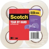 3M Scotch Tear-By-Hand Packaging Tape - 48mm Width x 115ft Length - 1 Pack - Clear
