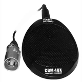 Nady CBM 40X Boundry Microphone - Electret - Desktop - 30Hz to 20kHz - Cable