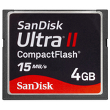 SanDisk 4GB Ultra II CompactFlash Card - SDCFH004GA11