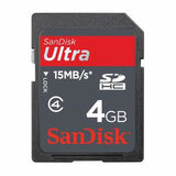 SanDisk 4GB Ultra II Secure Digital High Capacity (SDHC) High Performance Card