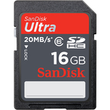 SanDisk 16GB Ultra II Secure Digital High Capacity (SDHC) High Performance Card