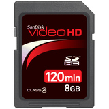 SanDisk 8GB Video HD Secure Digital High Capacity Card