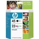 HP No. 45A / 23D Black and Tri-color Ink Cartridge - C8790FN140