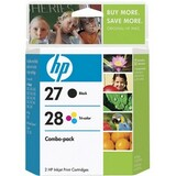 HP No. 27A / 28A Black and Tri-color Ink Cartridges