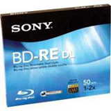 Sony 2x BD-RE Double Layer Media BNE50RH
