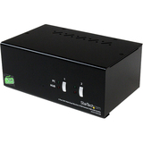 StarTech.com 2 Port DVI VGA Dual Monitor KVM Switch USB with Audio & USB 2.0 Hub SV231DDUSB