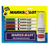 Avery Marks-A-Lot Pen Style Dry Erase Marker Kit - Black Ink, Blue Ink, Green Ink, Red Ink - 4 / Set