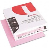 Colored Paper, 20lb, 8-1/2 x 11, Pink, 500 Sheets/Ream  MPN:11204