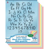 PAC74733 - Pacon Colored Paper Chart Tablet