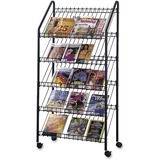 Safco Mobile Litreature Display Rack 4129CH