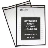 C-Line Shop Ticket Holders, Stitched