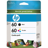 HP No.60 Black/Tricolor Ink Cartridge - CD947FN140