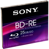 Sony BNE25RH Blu-ray Rewritable Media - BD-RE - 2x - 25 GB - 1 Pack Jewel Case BNE25RH