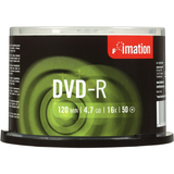 Imation 4064 DVD Recordable Media - DVD-R - 16x - 4.70 GB - 50 Pack Cake Box